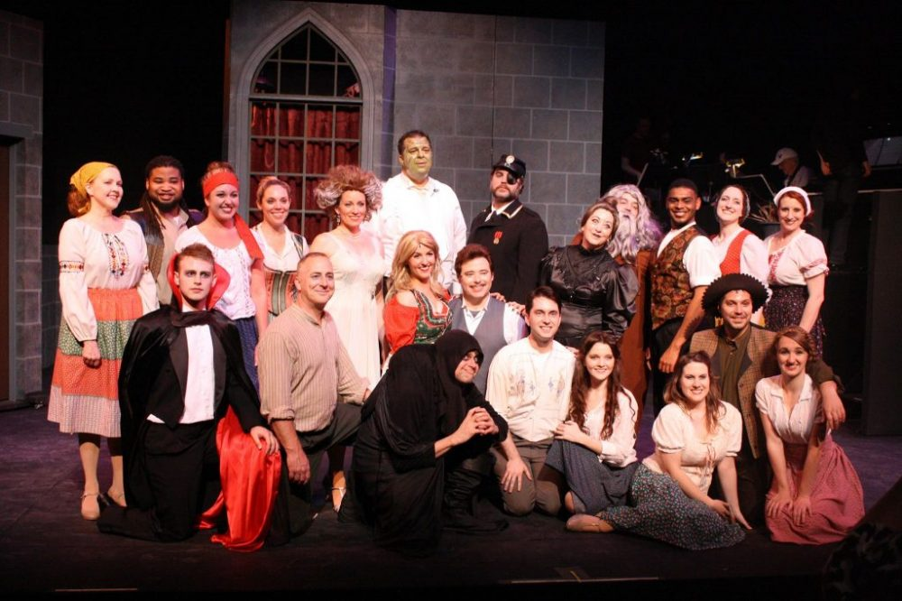 The cast of Young Frankenstein at Workshop Theatre, SC