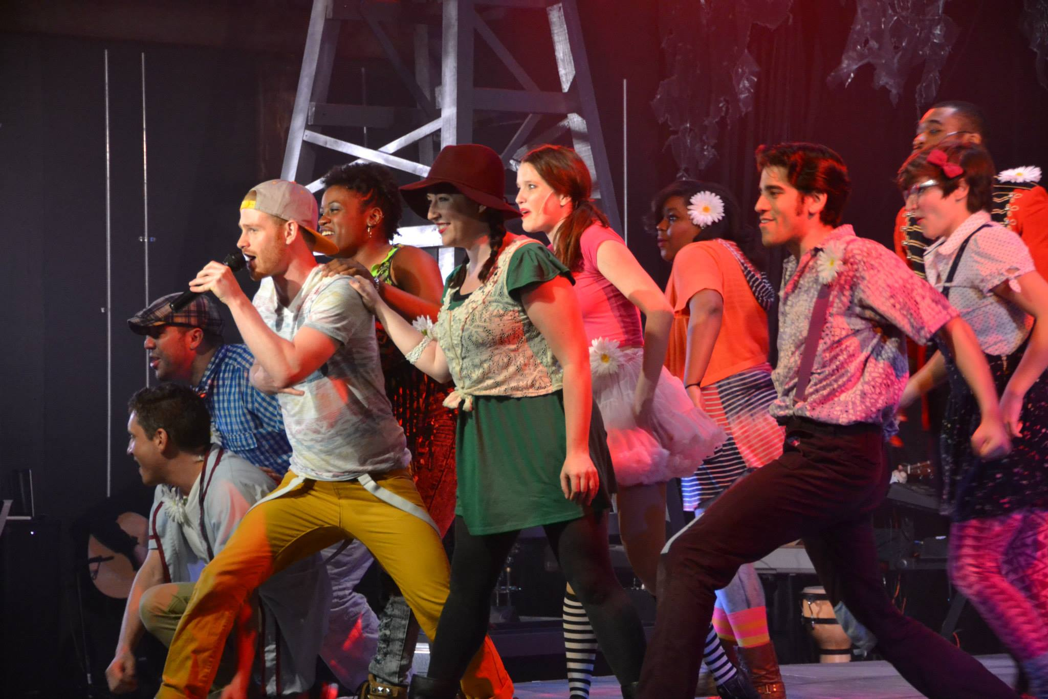 "Performing ""We Beseech Thee"" in Godspell at Trustus Theatre"