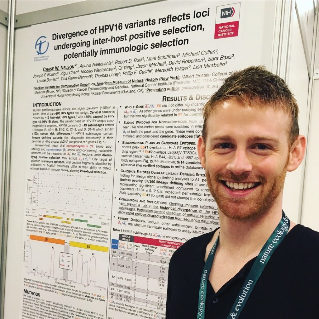 Presenting HPV research at the Society for Molecular Biology and Evolution