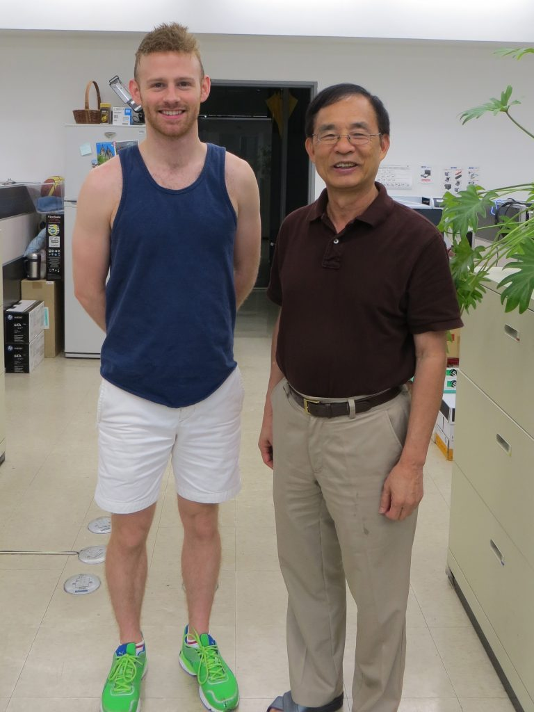 With Dr. Wen-Hsiung Li (李文雄) at Academia Sinica (中央研究院), Taipei, Taiwan
